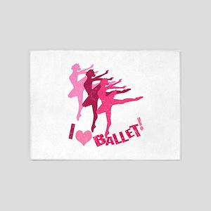 I Love Ballet 5'x7'Area Rug