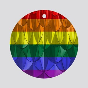 Rainbow Pride Round Ornament