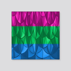 "Polysexual Pride Square Sticker 3"" x 3"""