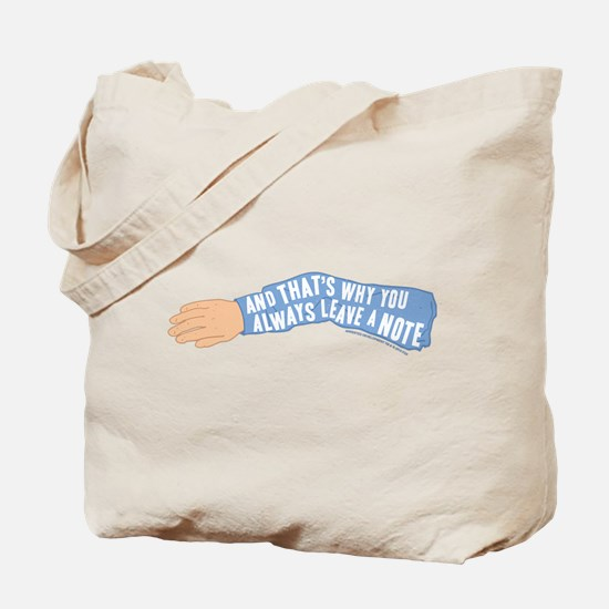 Arrested Development Leave a Note Tote Bag