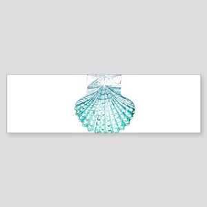 beach turquoise sea shells Bumper Sticker