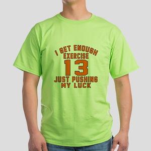 13 Birthday Designs Green T-Shirt