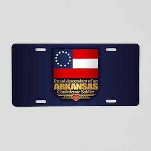 Arkansas Proud Descendant Aluminum License Plate