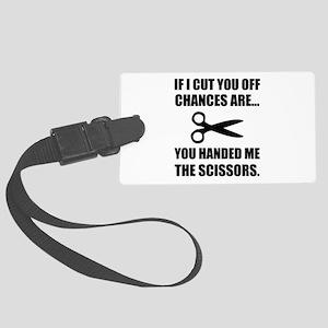 Cut Off Scissors Luggage Tag