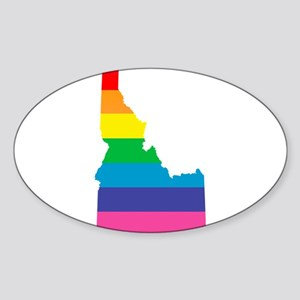 idaho rainbow Sticker