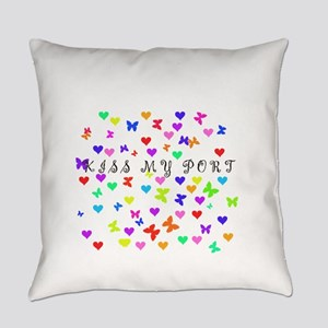 Butterfly Kiss my Port Everyday Pillow