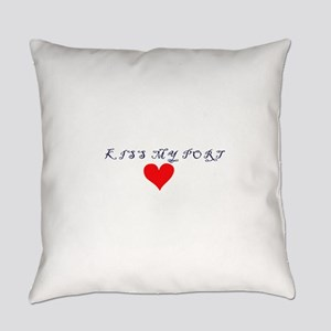 Kiss my port red heart Everyday Pillow