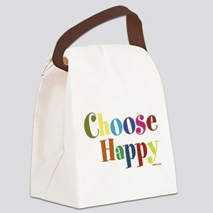 Choose Happy 01 Canvas Lunch Bag