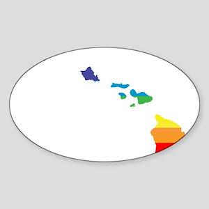 hawaii rainbow Sticker
