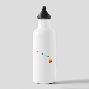 hawaii rainbow Water Bottle