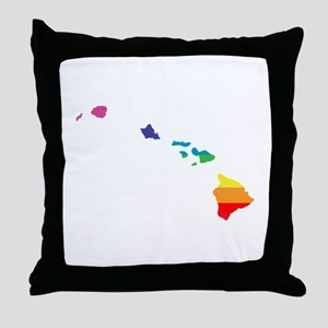 hawaii rainbow Throw Pillow