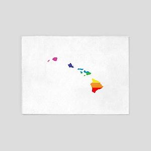 hawaii rainbow 5'x7'Area Rug