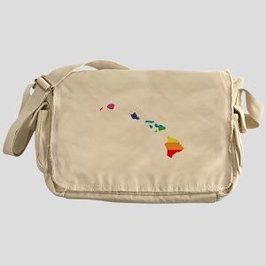 hawaii rainbow Messenger Bag