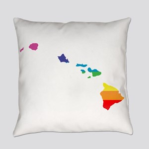 hawaii rainbow Everyday Pillow