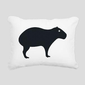 Capybara Rectangular Canvas Pillow