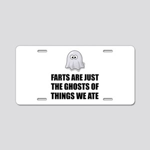 Farts Are Ghosts Aluminum License Plate