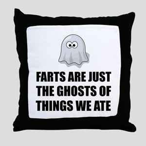 Farts Are Ghosts Throw Pillow