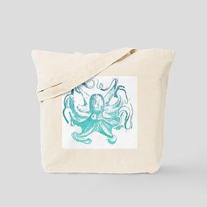 nautical ocean vintage octopus  Tote Bag