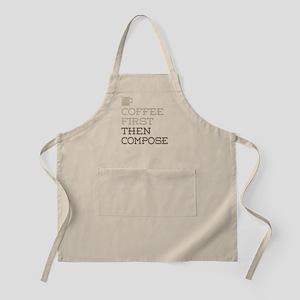 Coffee Then Compose Apron