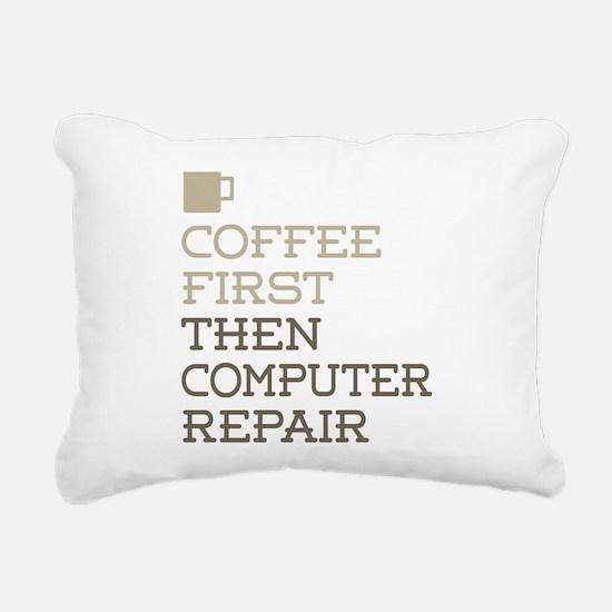 Coffee Then Computer Rep Rectangular Canvas Pillow