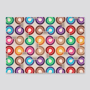 Abstract Colorful Decorative Patter 5'x7'Area Rug