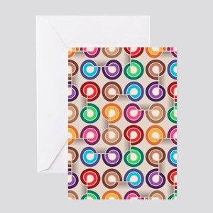 Abstract Colorful Decorative Patter Greeting Cards