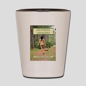 Natural Organic Nude Brunette Shot Glass