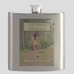 Natural Organic Nude Brunette Flask