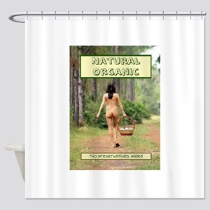 Natural Organic Nude Brunette Shower Curtain