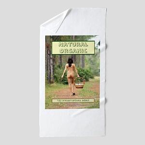 Natural Organic Nude Brunette Beach Towel