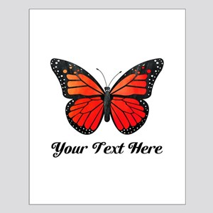 Red Butterfly Custom Text Posters