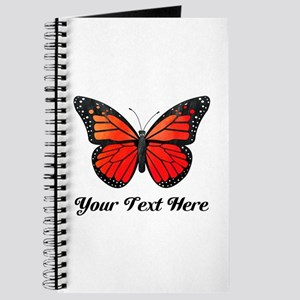 Red Butterfly Custom Text Journal
