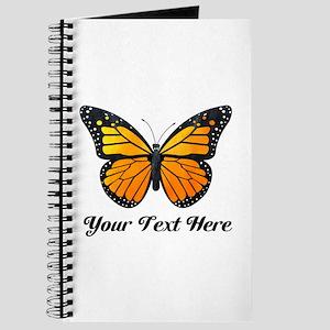 Orange Butterfly Custom Text Journal