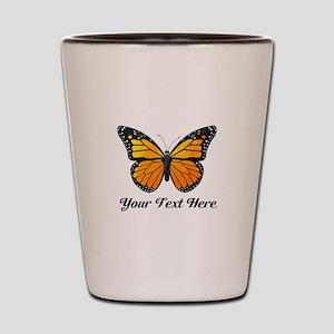 Orange Butterfly Custom Text Shot Glass