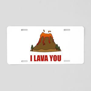 I Lava You Volcano Aluminum License Plate