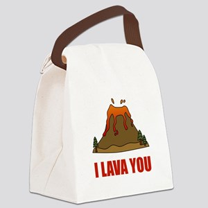 I Lava You Volcano Canvas Lunch Bag