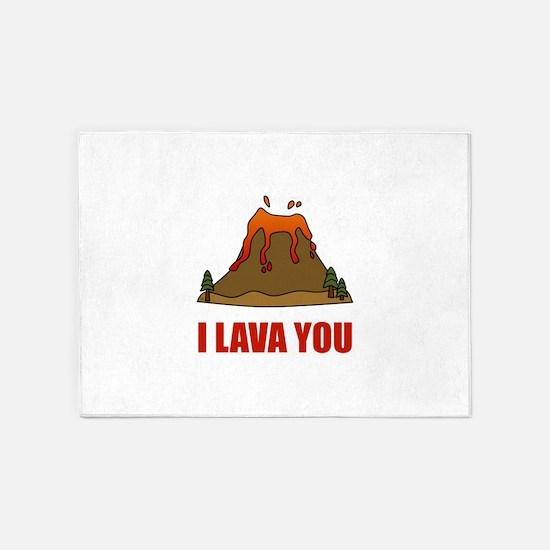 I Lava You Volcano 5'x7'Area Rug