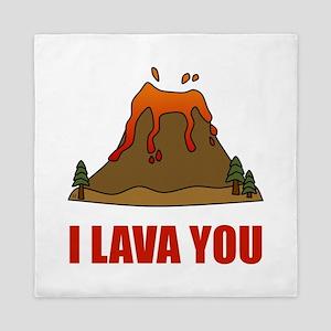 I Lava You Volcano Queen Duvet