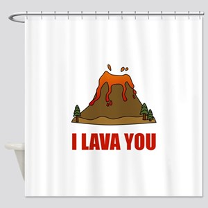 I Lava You Volcano Shower Curtain