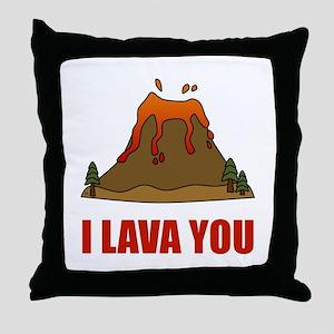 I Lava You Volcano Throw Pillow