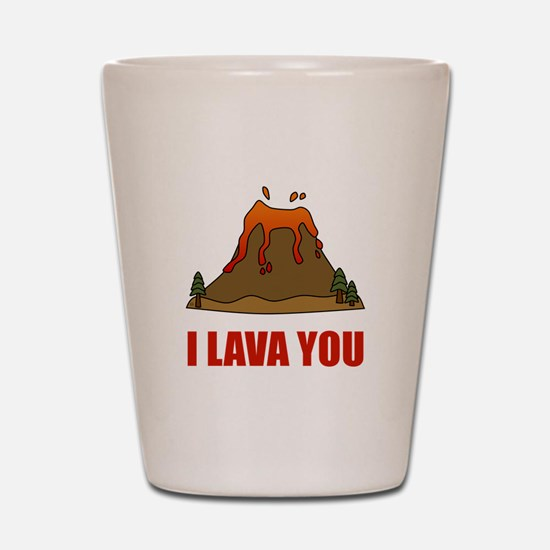 I Lava You Volcano Shot Glass