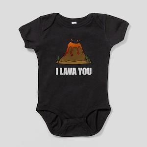 I Lava You Volcano Baby Bodysuit