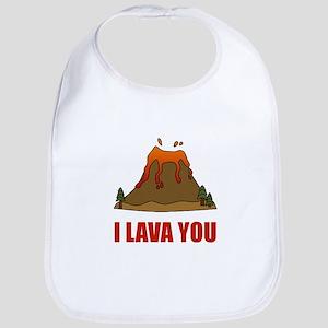 I Lava You Volcano Bib