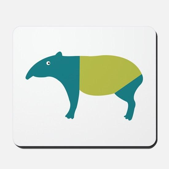 Aqua and green tapir Mousepad