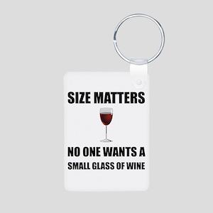 Size Matters Wine Keychains