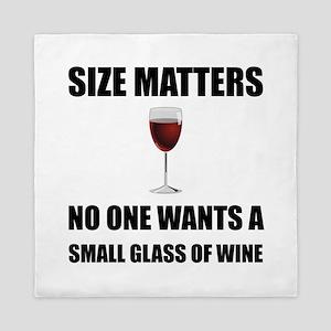 Size Matters Wine Queen Duvet