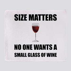 Size Matters Wine Throw Blanket