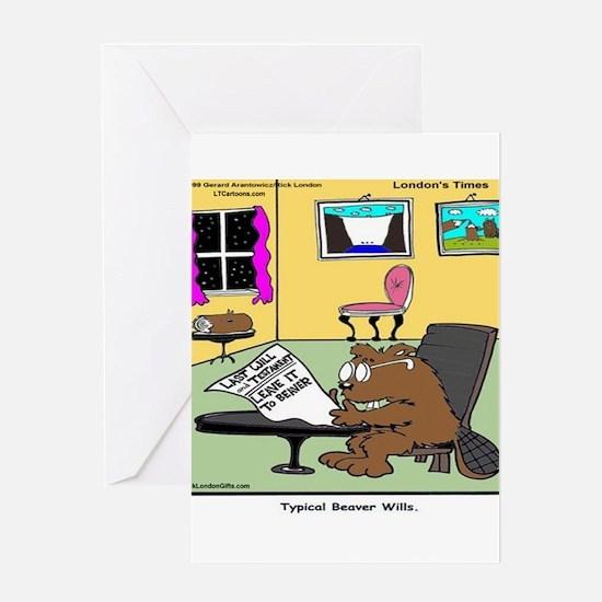 Beaver Living Wills Greeting Cards