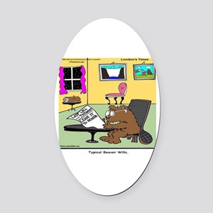 Beaver Living Wills Oval Car Magnet