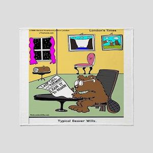 Beaver Living Wills Throw Blanket
